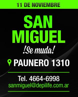 San Miguel se muda!